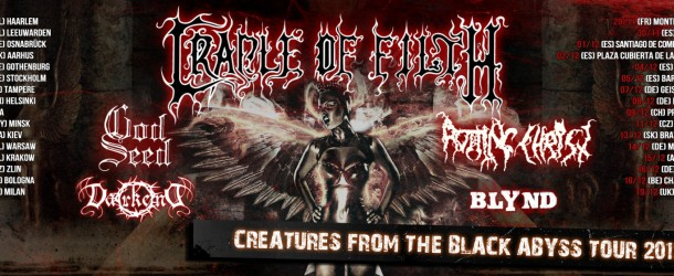 Cradle of Filth + God Seed + Rotting Christ + Dark End @ Estragon, BO &#8211; 26.11.2012