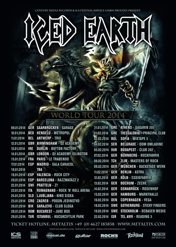 iced earth - world tour