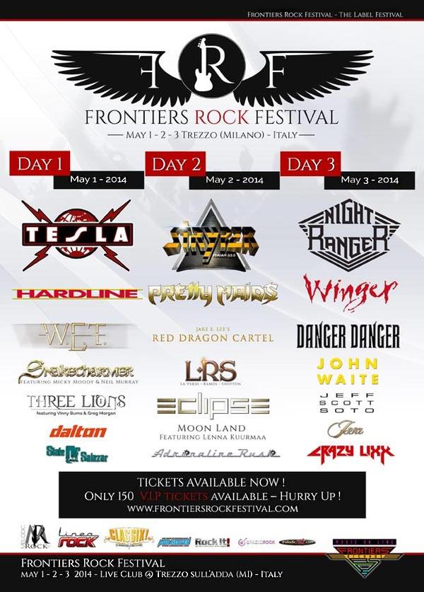Frontiers Rock Fest programma