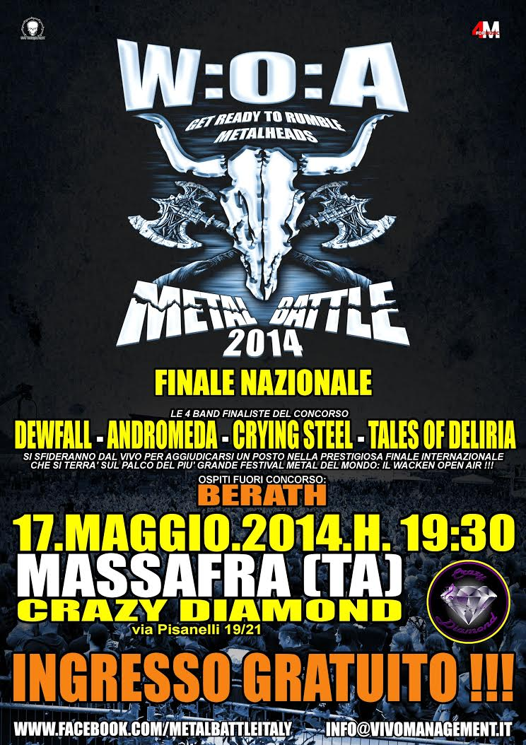 Metal Battle flyer