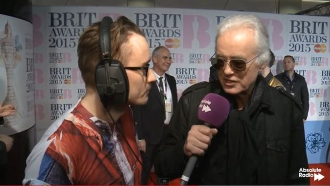 """JIMMY PAGE On Consuming Alcohol At Award Shows – """"I Had To Stop Drinking A Few Years Ago, Otherwise I Wouldn't Be Here Right Now"""""""