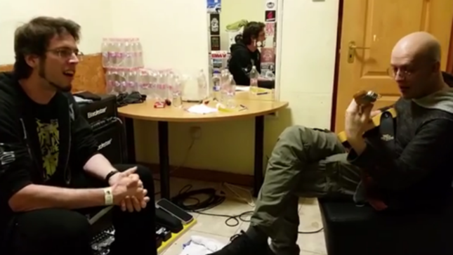 "DEVIN TOWNSEND Jams With Hand Fartist GUY FIRST Backstage; ""Fart Of The Poozers"" Video Pootage Posted"