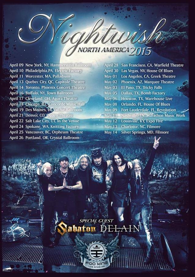 nightwishnorthamerica2015tourposter