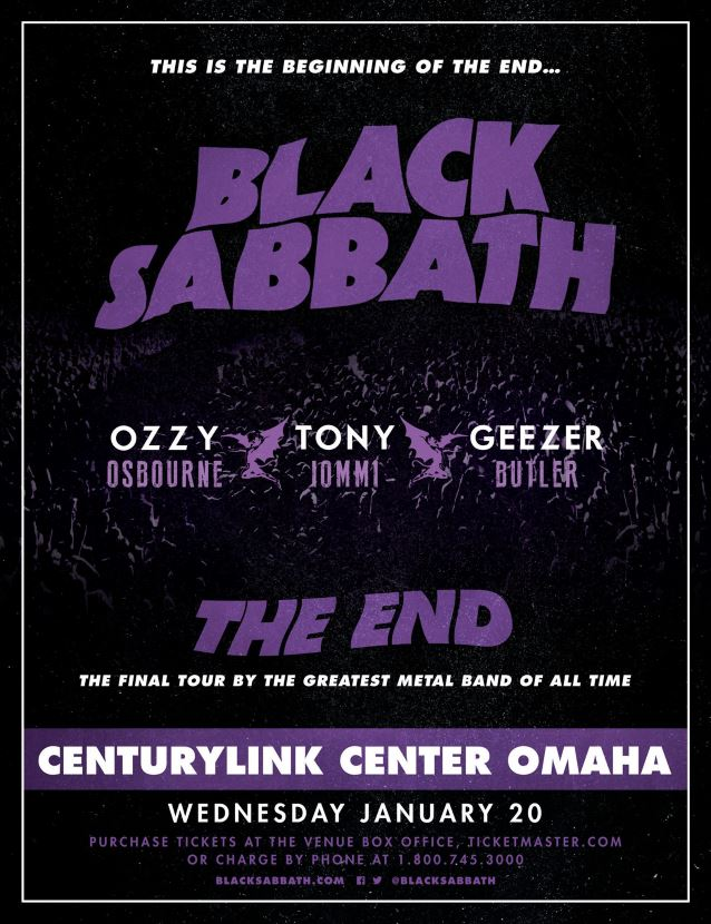 black sabbath kicks off 39 the end 39 world tour in omaha video available setlist revealed heavy. Black Bedroom Furniture Sets. Home Design Ideas