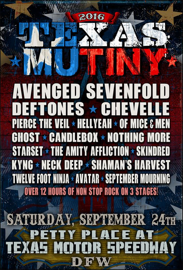 avenged sevenfold deftones chevelle set for first annual texas mutiny festival heavy. Black Bedroom Furniture Sets. Home Design Ideas