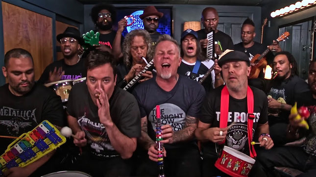 "METALLICA Perform ""Enter Sandman"" On Classroom Instruments; The Tonight Show Starring Jimmy Fallon Video Streaming"