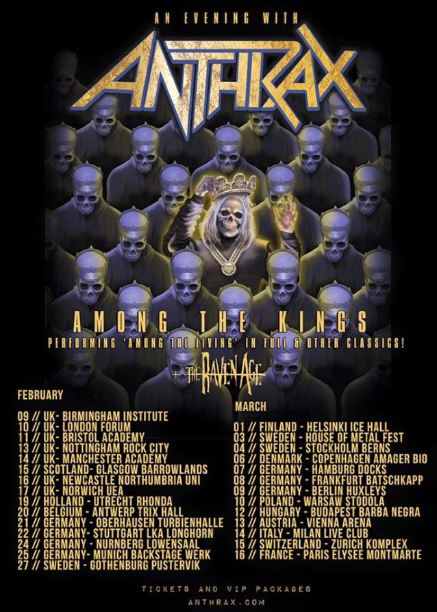 Anthrax More European Shows Added To 39 Among The Living 39 30th Anniversary Tour Heavy