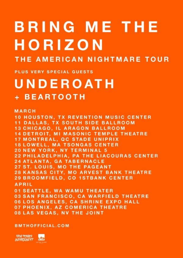 bring me the horizon announces 39 the american nightmare tour 39 with underoath beartooth heavy. Black Bedroom Furniture Sets. Home Design Ideas