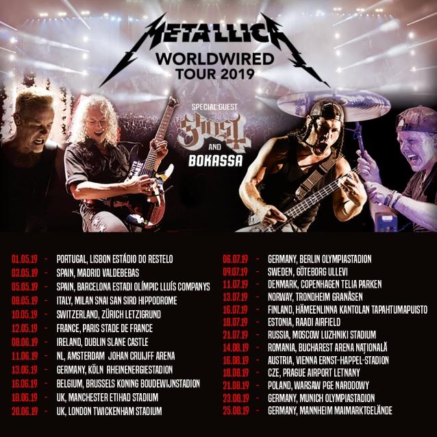 Metallica Worldwired Tour  August