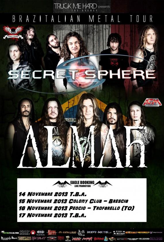 Secret Sphere Almah tour 2013