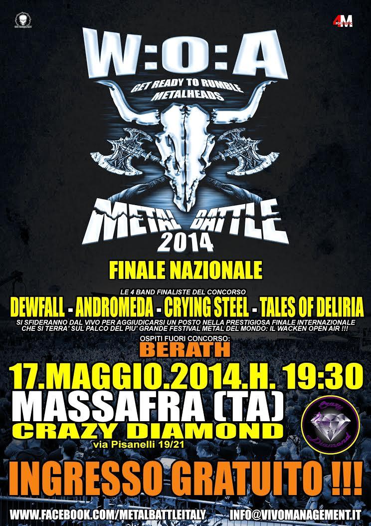 Metal Battle flyer